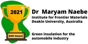 Dr. Maryam Naebe Win 2021 DNFI Award